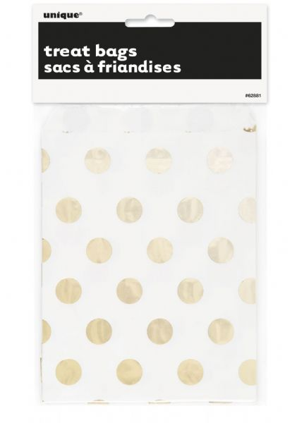 Gold Dots Treat Bags (8)